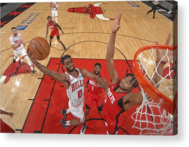 Coby White Acrylic Print featuring the photograph Houston Rockets v Chicago Bulls by Randy Belice