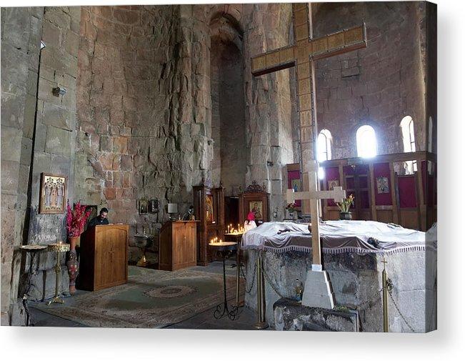 Art Acrylic Print featuring the photograph Inside the Jvari Church, Mtskheta by Vyacheslav Argenberg