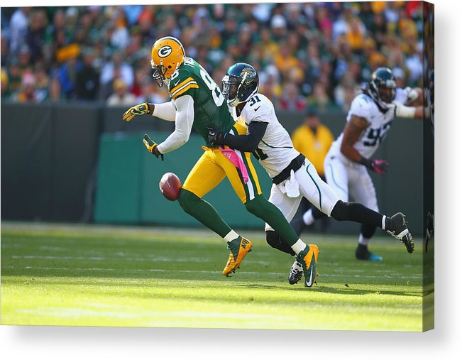 Green Bay Acrylic Print featuring the photograph Jacksonville Jaguars v Green Bay Packers by Dilip Vishwanat
