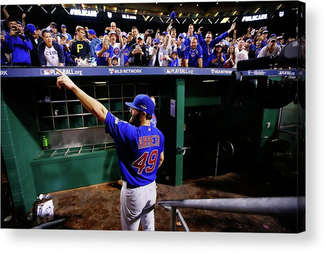 Playoffs Acrylic Print featuring the photograph Jake Arrieta by Jared Wickerham