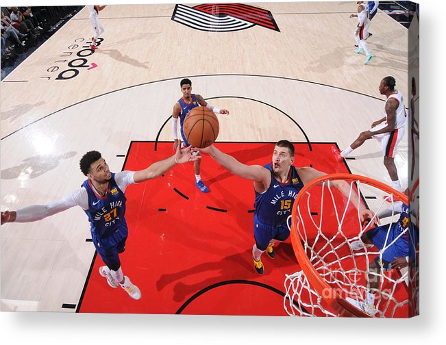 Nba Pro Basketball Acrylic Print featuring the photograph Jamal Murray by Sam Forencich