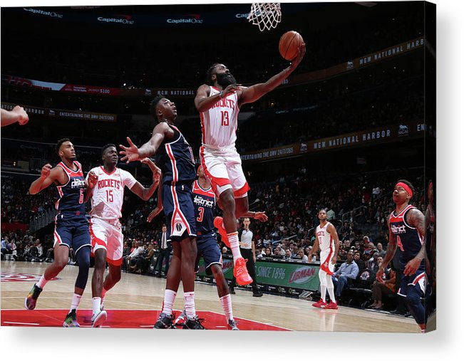 Nba Pro Basketball Acrylic Print featuring the photograph James Harden by Stephen Gosling
