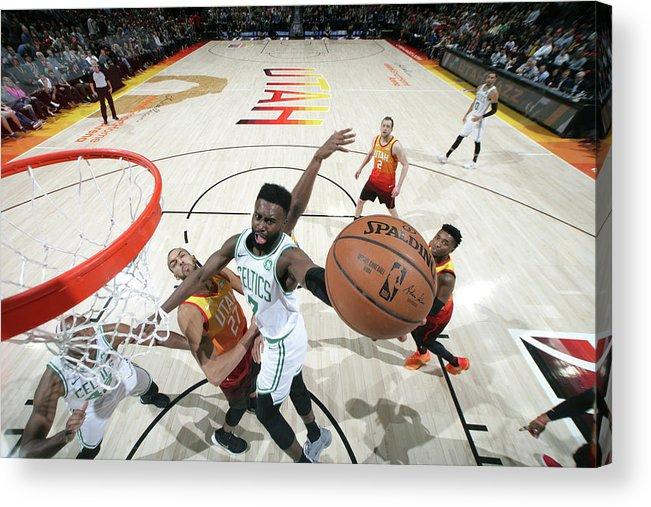 Nba Pro Basketball Acrylic Print featuring the photograph Jaylen Brown by Melissa Majchrzak