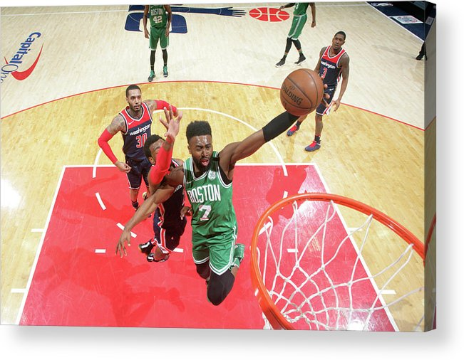 Nba Pro Basketball Acrylic Print featuring the photograph Jaylen Brown by Ned Dishman