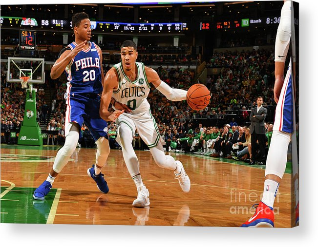 Nba Pro Basketball Acrylic Print featuring the photograph Jayson Tatum by Jesse D. Garrabrant