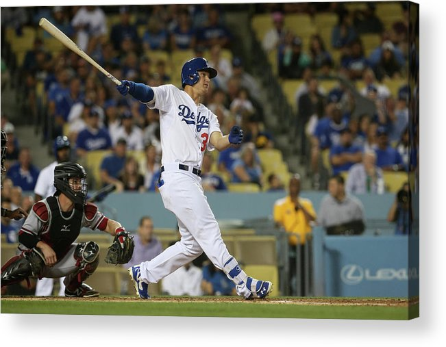 Second Inning Acrylic Print featuring the photograph Joc Pederson by Stephen Dunn
