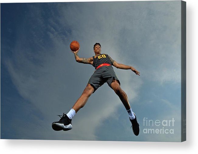 Nba Pro Basketball Acrylic Print featuring the photograph John Collins by Jesse D. Garrabrant