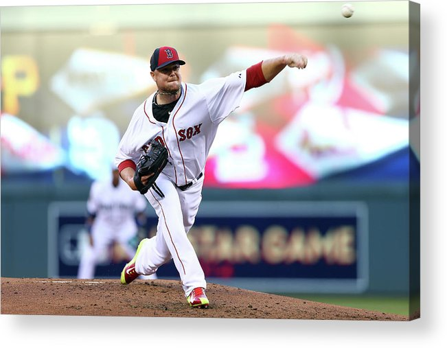 People Acrylic Print featuring the photograph Jon Lester by Elsa