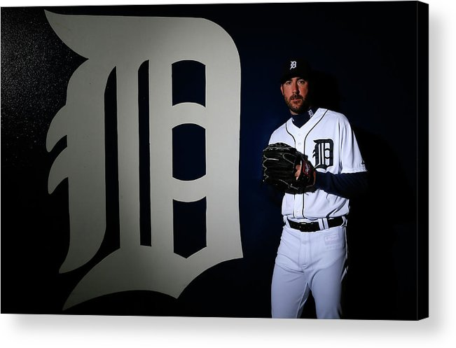 Media Day Acrylic Print featuring the photograph Justin Verlander by Kevin C. Cox