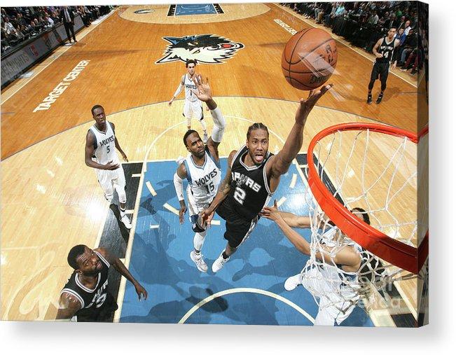 Nba Pro Basketball Acrylic Print featuring the photograph Kawhi Leonard by David Sherman