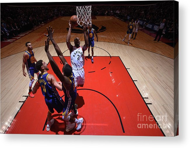 Playoffs Acrylic Print featuring the photograph Kawhi Leonard by Garrett Ellwood