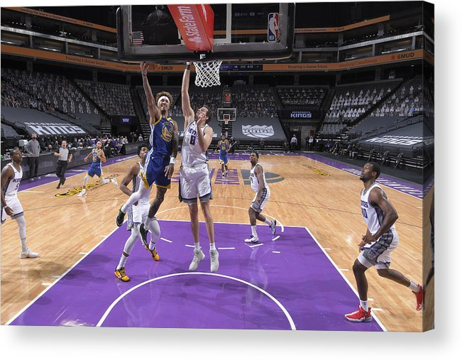 Nba Pro Basketball Acrylic Print featuring the photograph Kelly Oubre and Nemanja Bjelica by Rocky Widner