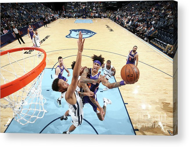 Nba Pro Basketball Acrylic Print featuring the photograph Kelly Oubre by Joe Murphy