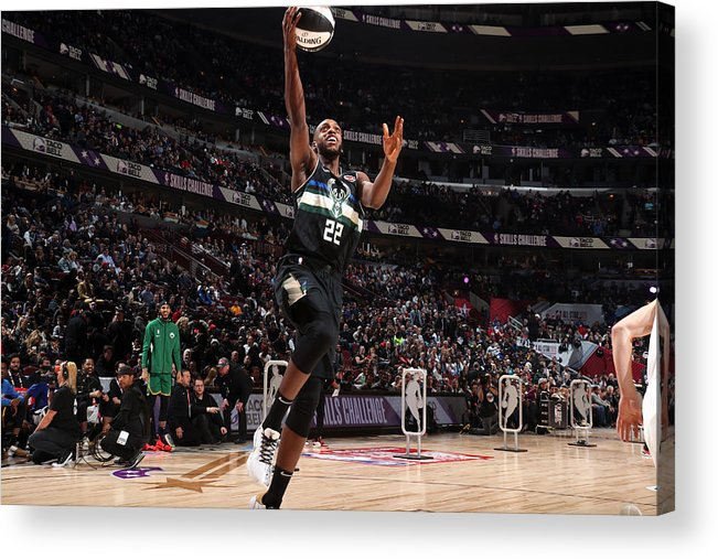 Nba Pro Basketball Acrylic Print featuring the photograph Khris Middleton by Nathaniel S. Butler
