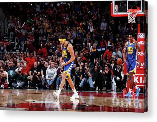 Nba Pro Basketball Acrylic Print featuring the photograph Klay Thompson by Jeff Haynes