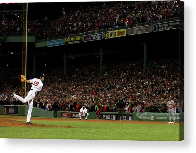 Playoffs Acrylic Print featuring the photograph Koji Uehara by Rob Carr