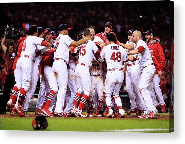 St. Louis Cardinals Acrylic Print featuring the photograph Kolten Wong by Jamie Squire