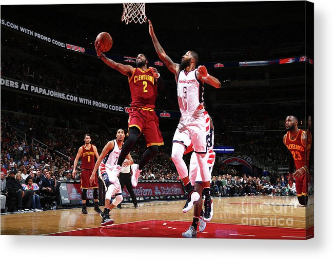 Nba Pro Basketball Acrylic Print featuring the photograph Kyrie Irving by Ned Dishman
