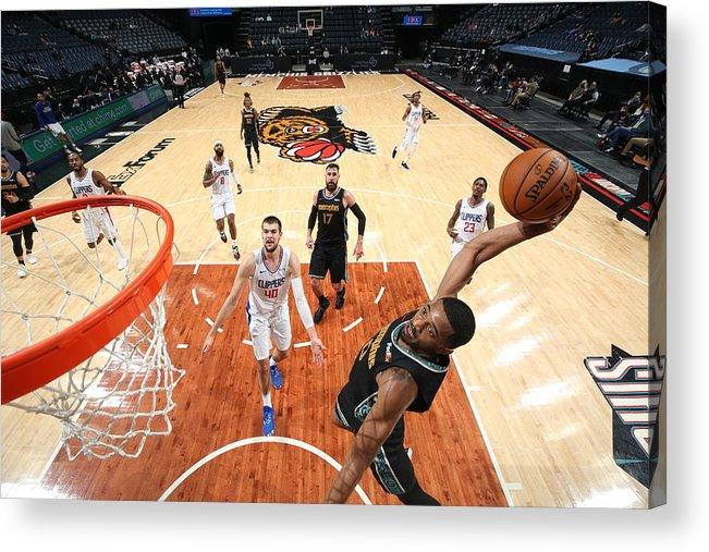 Nba Pro Basketball Acrylic Print featuring the photograph LA Clippers v Memphis Grizzlies by Joe Murphy
