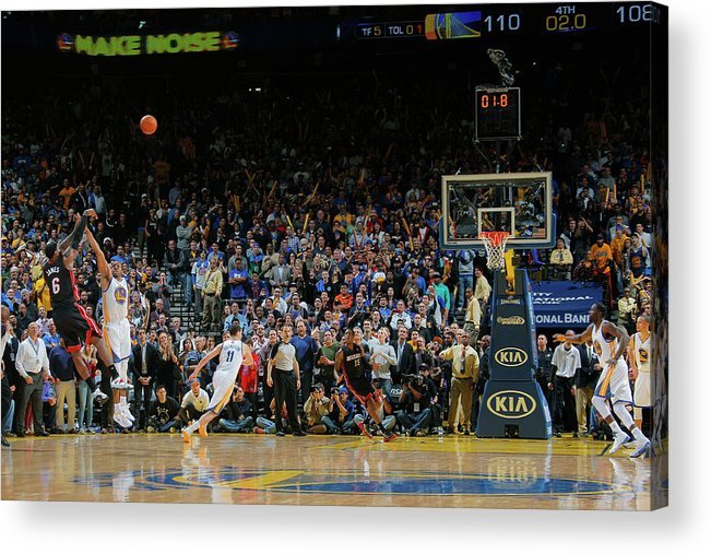 Nba Pro Basketball Acrylic Print featuring the photograph Lebron James by Rocky Widner