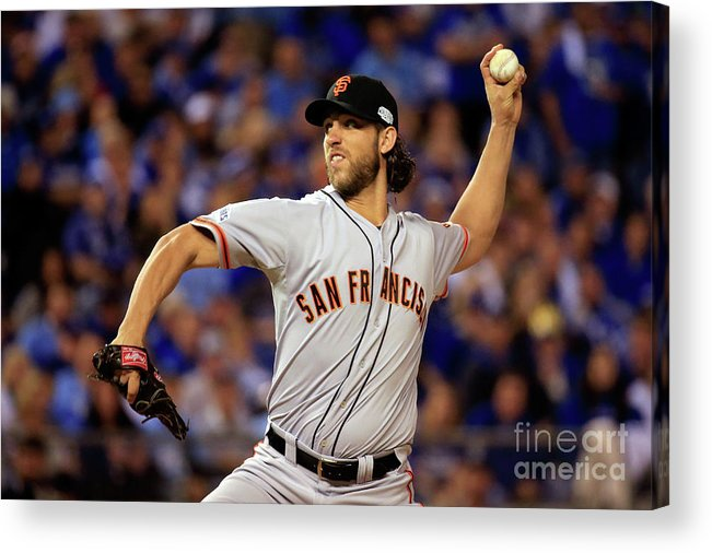 People Acrylic Print featuring the photograph Madison Bumgarner by Rob Carr