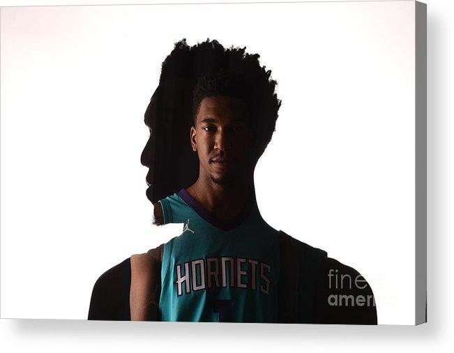 Nba Pro Basketball Acrylic Print featuring the photograph Malik Monk by Brian Babineau