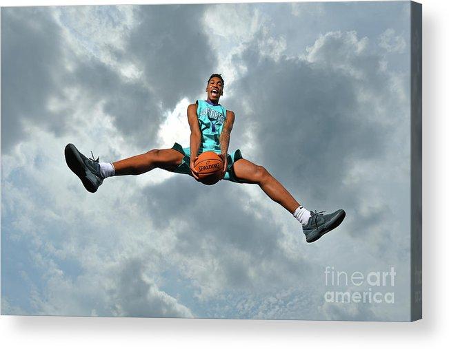 Nba Pro Basketball Acrylic Print featuring the photograph Malik Monk by Jesse D. Garrabrant