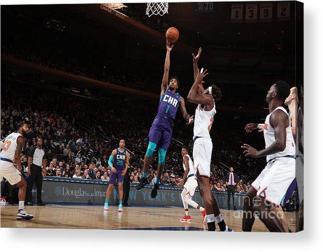 Nba Pro Basketball Acrylic Print featuring the photograph Malik Monk by Nathaniel S. Butler
