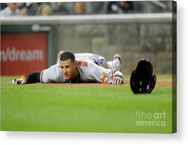 People Acrylic Print featuring the photograph Manny Machado by Greg Fiume