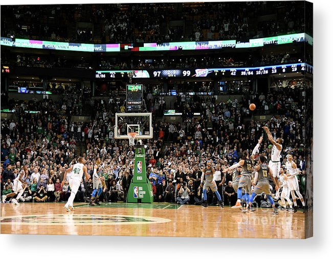 Nba Pro Basketball Acrylic Print featuring the photograph Marcus Morris by Brian Babineau