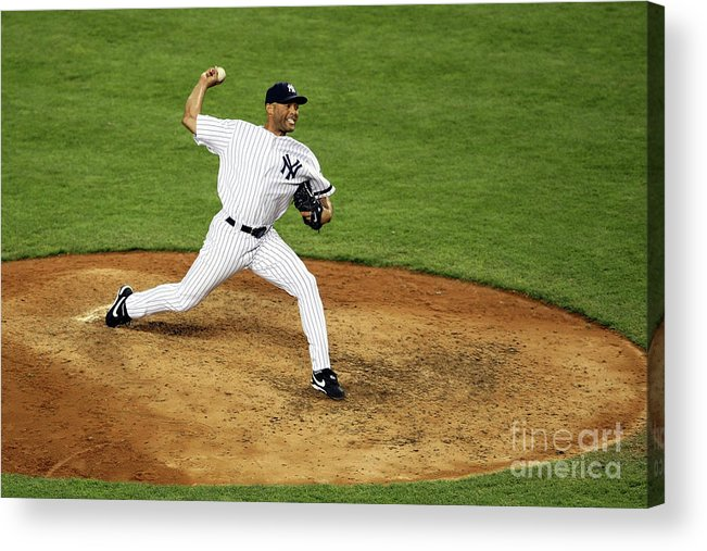 People Acrylic Print featuring the photograph Mariano Rivera by Nick Laham