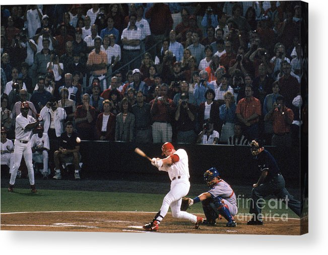 St. Louis Cardinals Acrylic Print featuring the photograph Mark Mcgwire and Roger Maris by Bill Stover