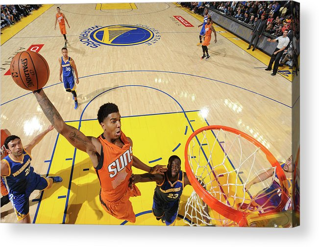 Nba Pro Basketball Acrylic Print featuring the photograph Marquese Chriss by Noah Graham