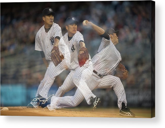 American League Baseball Acrylic Print featuring the photograph Masahiro Tanaka by Rob Tringali
