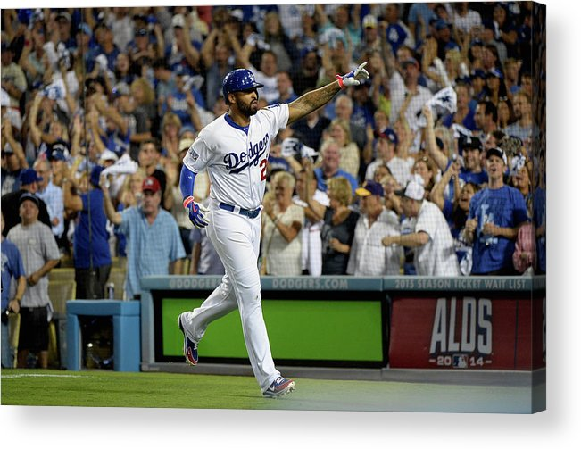 Game Two Acrylic Print featuring the photograph Matt Kemp by Harry How