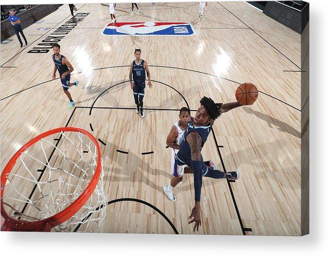 Nba Pro Basketball Acrylic Print featuring the photograph Memphis Grizzlies v Philadelphia 76ers by Joe Murphy