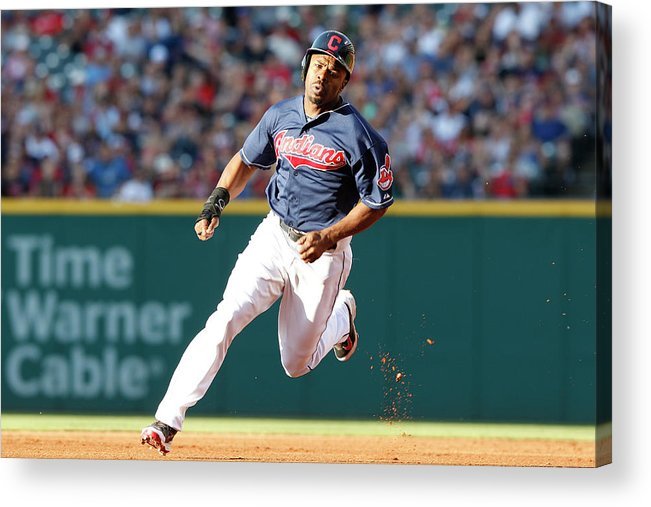 Michael Bourn Acrylic Print featuring the photograph Michael Bourn by David Maxwell