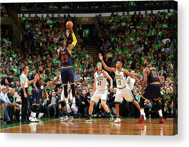 Playoffs Acrylic Print featuring the photograph Michael Jordan and Lebron James by Jesse D. Garrabrant