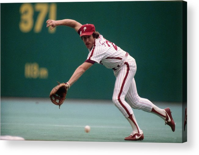 1980-1989 Acrylic Print featuring the photograph Mike Schmidt by Ronald C. Modra/sports Imagery