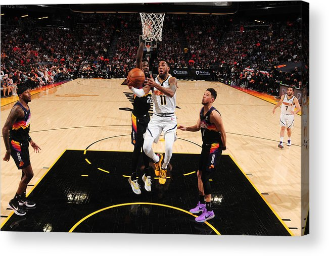 Playoffs Acrylic Print featuring the photograph Monte Morris by Barry Gossage