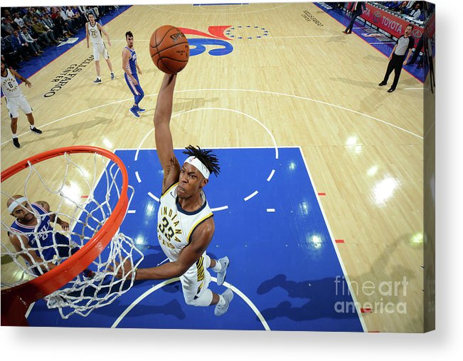 Nba Pro Basketball Acrylic Print featuring the photograph Myles Turner by Jesse D. Garrabrant