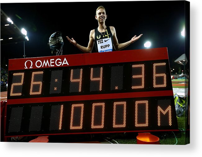 Galen Rupp Acrylic Print featuring the photograph Nike Prefontaine Classic-Day1 by Jonathan Ferrey