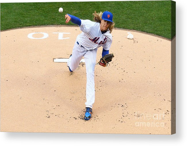 People Acrylic Print featuring the photograph Noah Syndergaard by Mike Stobe