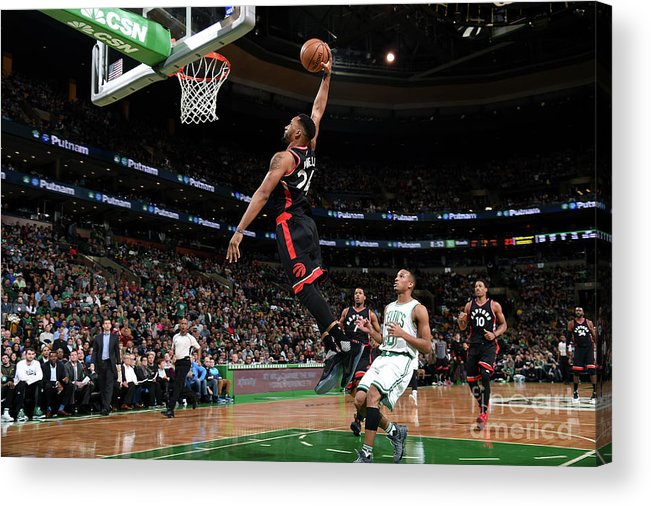Nba Pro Basketball Acrylic Print featuring the photograph Norman Powell by Brian Babineau