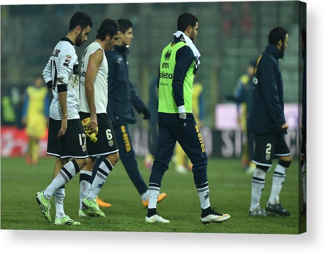 Sports Ball Acrylic Print featuring the photograph Parma FC v AC Chievo Verona - Serie A by Valerio Pennicino