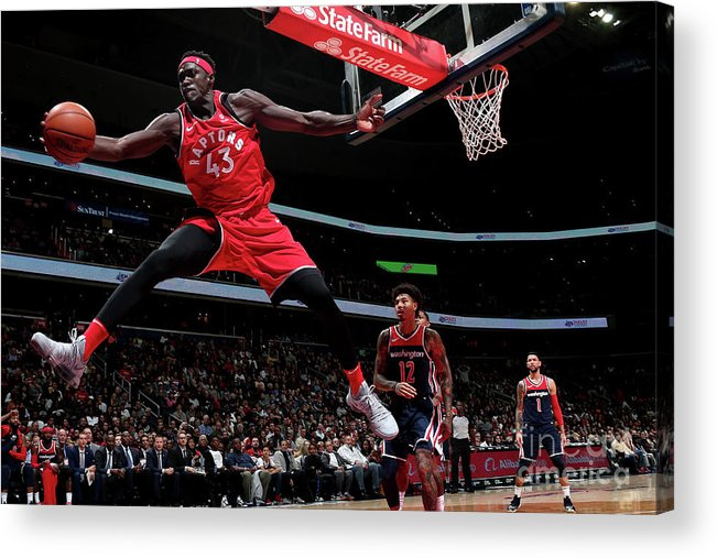Nba Pro Basketball Acrylic Print featuring the photograph Pascal Siakam by Ned Dishman