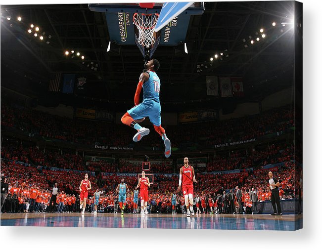 Playoffs Acrylic Print featuring the photograph Paul George by Joe Murphy