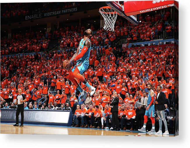 Playoffs Acrylic Print featuring the photograph Paul George by Zach Beeker