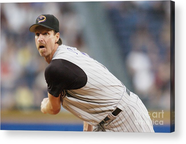 Atlanta Acrylic Print featuring the photograph Randy Johnson by Edward M. Pio Roda