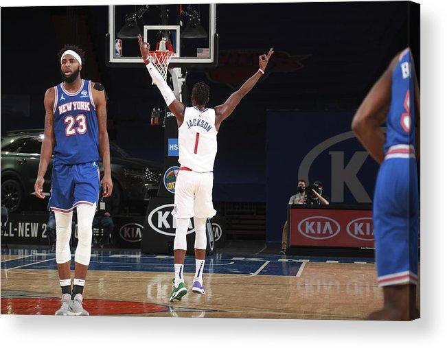 Nba Pro Basketball Acrylic Print featuring the photograph Reggie Jackson by Nathaniel S. Butler
